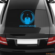 "Heckscheibenaufkleber Symbol ""Anonymous"""