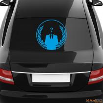 "Heckscheibenaufkleber Symbol ""Anonymous Logo"""