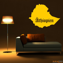 """Wandtattoo """"Äthiopien"""""""
