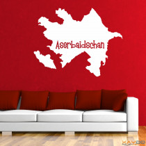 "Wandtattoo ""Aserbaidschan"""