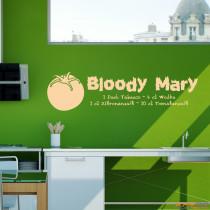 "Wandtattoo ""Bloody Mary"""