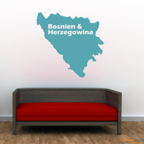 "Wandtattoo ""Bosnien & Herzegowina"""