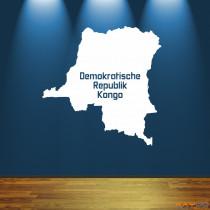 "Wandtattoo ""Demokratische Republik Kongo"""