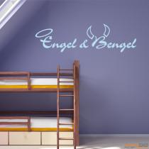 """Wandtattoo """"Engel & Bengel"""""""