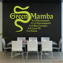 "Wandtattoo ""Green Mamba"""