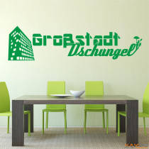 "Wandtattoo ""Großstadt Dschungel"""