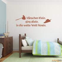 """Wandtattoo """"Hänschen Klein, ging allein, in die weite Welt hinein."""""""