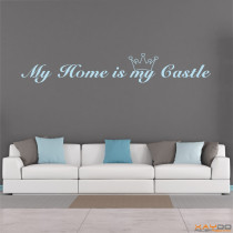 "Wandtattoo ""My Home is my Castle"""