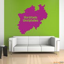 """Wandtattoo """"Nordrhein-Westphalen"""""""