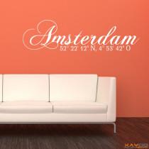 "Wandtattoo ""Amsterdam"""