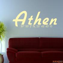 "Wandtattoo ""Athen"""