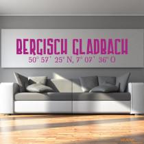 """Wandtattoo """"Bergisch Gladbach"""""""