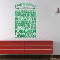 """Wandtattoo Stadtviertel """"Amsterdam"""""""