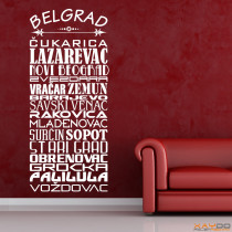 "Wandtattoo Stadtviertel ""Belgrad"""