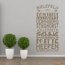"""Wandtattoo Stadtviertel """"Bielefeld"""""""