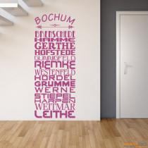 """Wandtattoo Stadtviertel """"Bochum"""""""