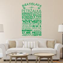 """Wandtattoo Stadtviertel """"Bratislava"""""""