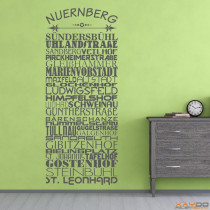 "Wandtattoo Stadtviertel ""Nürnberg"""