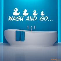 """Wandtattoo """"Wash and go"""""""