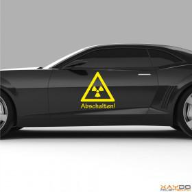 "Autoaufkleber ""Atomkraft abschalten!"""