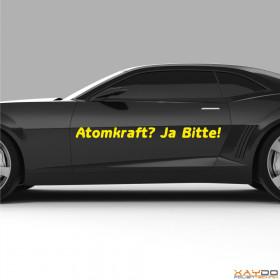 "Autoaufkleber ""Atomkraft? Ja Bitte! V.1"""