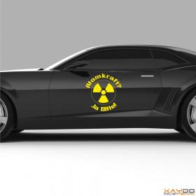 "Autoaufkleber ""Atomkraft? Ja Bitte! V.2"""