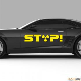 """Autoaufkleber """"Atomkraft Stop!"""""""