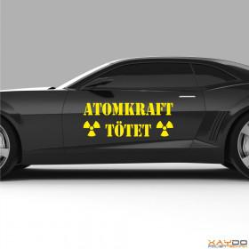 """Autoaufkleber """"Atomkraft tötet"""""""