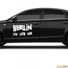 "Autoaufkleber ""Berlin ick lieb dir!"""
