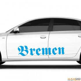 "Autoaufkleber ""Bremen"""