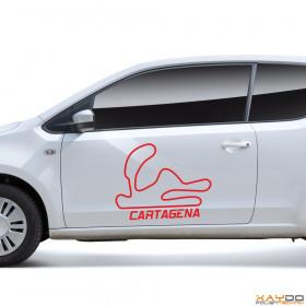 """Autoaufkleber """"Cartagena"""""""