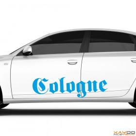 """Autoaufkleber """"Cologne"""""""