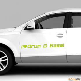 "Autoaufkleber ""Drum & Bass"""