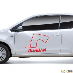 """Autoaufkleber """"Durban"""""""