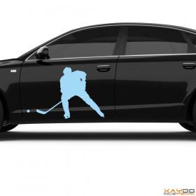 "Autoaufkleber ""Eishockeyspieler"""