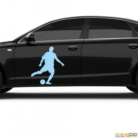 "Autoaufkleber ""Fußballer"""