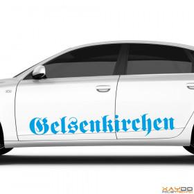 """Autoaufkleber """"Gelsenkirchen"""""""