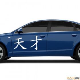 """Autoaufkleber """"Genie"""" (chinesisch)"""
