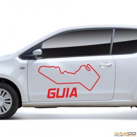 """Autoaufkleber """"Guia"""""""