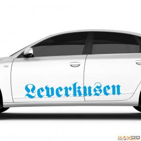"""Autoaufkleber """"Leverkusen"""""""