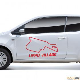 """Autoaufkleber """"Lippo Village"""""""