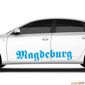 "Autoaufkleber ""Magdeburg"""