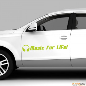 "Autoaufkleber ""Music for Life!"""