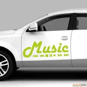 "Autoaufkleber ""Music"""