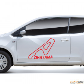 "Autoaufkleber ""Okayama"""