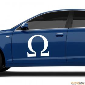 """Autoaufkleber """"Omega"""""""