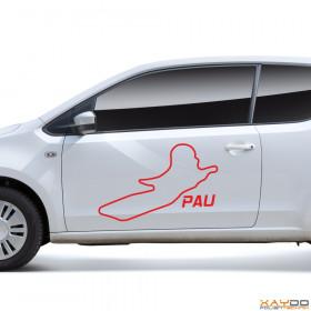 """Autoaufkleber """"Pau"""""""