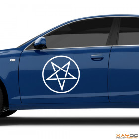 "Autoaufkleber ""Pentagramm"""