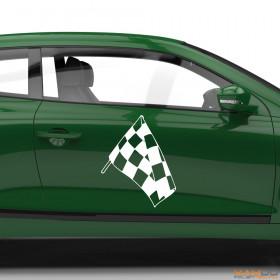 "Autoaufkleber ""Rennflagge 008"""