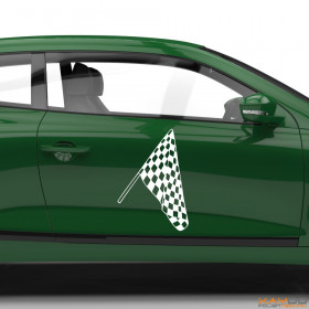 "Autoaufkleber ""Rennflagge 009"""